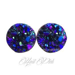 3 for 15🎀 blackberry Druzy style earrings